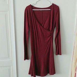 LS Raspberry Wool Blend Prana Dress